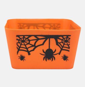 953563-Halloween-Square-Tub-w_-Spider,-Web---Orange