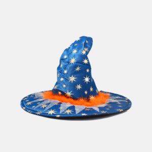 Q107-Witch-Hat-With-Stars-&-Orange-Fur